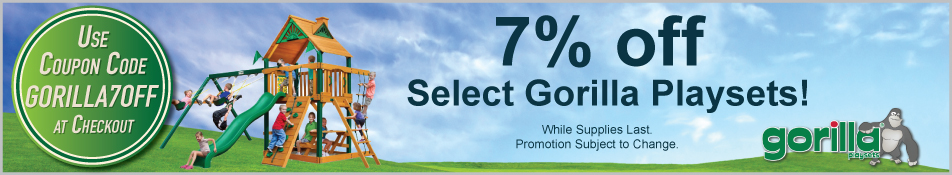 7% Off Gorilla Swing Sets