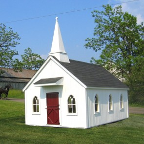 Little Cottage Chapel 8 x 12 Playhouse