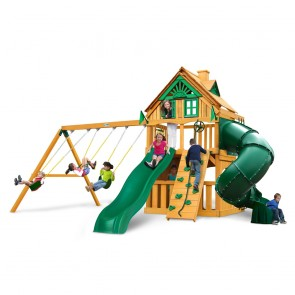 Mountaineer Clubhouse Treehouse Swing Set