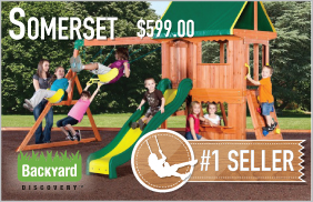 Somerset Swing Set by Backyard Discovery